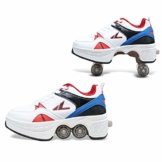 Fbestxie Kinderschuhe mit Rollen Skateboardschuhe Skate Schuhe Roller Skate Shoes Rollen Schuhe Skateboard Schuhe Schuhe mit Rollen Kinder Jungen Mädchen Schuhe Sneaker Sportschuhe mit Rollen,42 - 1