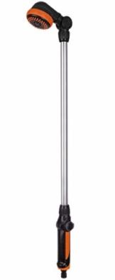 FERM 2 in 1 Gartendusche und Sprühlanze - Verstellbare Höhe 149-190cm und 180° Verstellbarer Duschkopf - 1