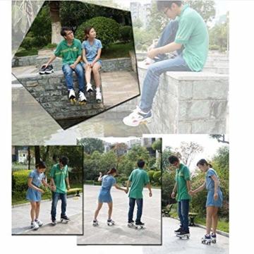 FGERTQW Multifunktionale Deformation Schuhe Quad Skate Rollschuhe Skating Outdoor Sportschuhe Für Erwachsene,White-40 - 7