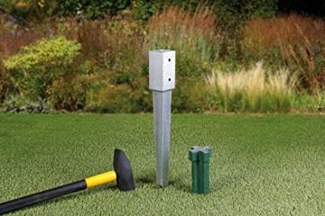 GAH-Alberts 211233 Einschlag-Werkzeug - Kunststoff, grün, für Einschlag-Bodenhülsen 70 x 70 mm und Ø80 mm - 2