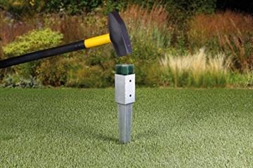 GAH-Alberts 211233 Einschlag-Werkzeug - Kunststoff, grün, für Einschlag-Bodenhülsen 70 x 70 mm und Ø80 mm - 3
