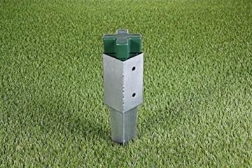 GAH-Alberts 211233 Einschlag-Werkzeug - Kunststoff, grün, für Einschlag-Bodenhülsen 70 x 70 mm und Ø80 mm - 4