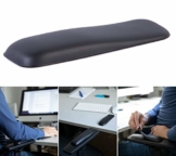 Gel-Buddy chair Die Armauflage für den Bürostuhl Gaming-Stuhl oder Schreibtischstuhl, Farbe:schwarz, Größe:15 x 5cm - 1