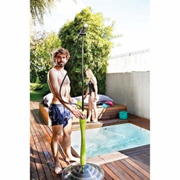 GF GARDEN, Solardusche Sunny Style Premium, Gartendusche, Swimmingpool, für den Außenbereich, ideal auch für Urlaub und Camping, mit Mischer für warmes und kaltes Wasser, Farbe Limettengrün - 4