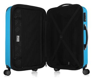 HAUPTSTADTKOFFER - Alex -  4 Doppel-Rollen Handgepäck Hartschalen-Koffer Trolley Rollkoffer Reisekoffer, TSA, 55 cm, 42 Liter, Cyanblau - 6