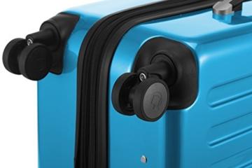 HAUPTSTADTKOFFER - Alex -  4 Doppel-Rollen Handgepäck Hartschalen-Koffer Trolley Rollkoffer Reisekoffer, TSA, 55 cm, 42 Liter, Cyanblau - 7