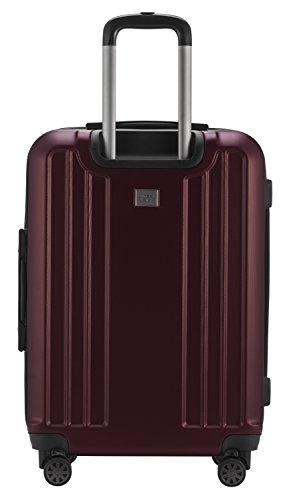 HAUPTSTADTKOFFER - X-Berg - Handgepäck Koffer Trolley Hartschalenkoffer, TSA, 55 cm, 42 Liter, Burgund - 3