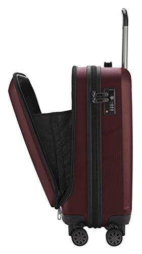 HAUPTSTADTKOFFER - X-Berg - Handgepäck Koffer Trolley Hartschalenkoffer, TSA, 55 cm, 42 Liter, Burgund - 4