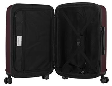 HAUPTSTADTKOFFER - X-Berg - Handgepäck Koffer Trolley Hartschalenkoffer, TSA, 55 cm, 42 Liter, Burgund - 5