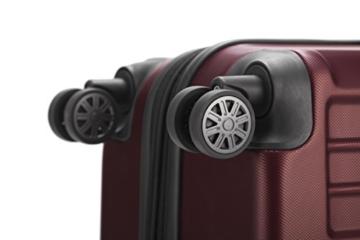 HAUPTSTADTKOFFER - X-Berg - Handgepäck Koffer Trolley Hartschalenkoffer, TSA, 55 cm, 42 Liter, Burgund - 6