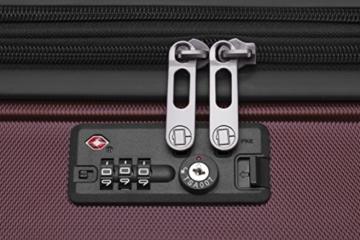 HAUPTSTADTKOFFER - X-Berg - Handgepäck Koffer Trolley Hartschalenkoffer, TSA, 55 cm, 42 Liter, Burgund - 8