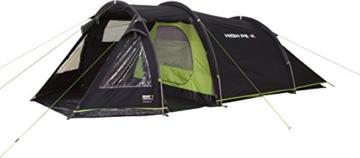 High Peak Tunnelzelt Atmos 3, Campingzelt mit Zeltboden, Trekkingzelt für 3 Personen, 2 Eingänge, doppelwandig, 4.000 mm wasserdicht, Ventilationssystem, Moskito- und Klarsicht-Fenster, windstabil - 4