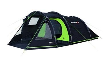 High Peak Tunnelzelt Atmos 3, Campingzelt mit Zeltboden, Trekkingzelt für 3 Personen, 2 Eingänge, doppelwandig, 4.000 mm wasserdicht, Ventilationssystem, Moskito- und Klarsicht-Fenster, windstabil - 1