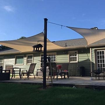 Innoo Tech Sonnensegel Sonnenschutz Garten Balkon wetterbeständig wasserabweisend HDPE atmungsaktiv Schattenspender Rechteckig PES UV-Schutz für Garten Outdoor (2 x 3 m) - 6