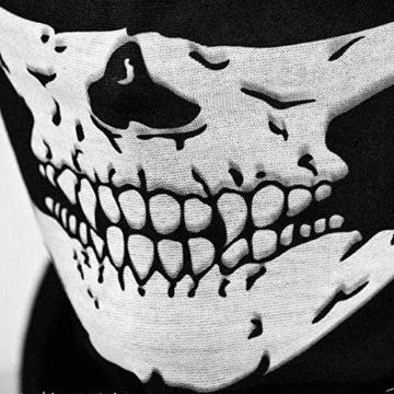 Kim Johanson Multifunktionstuch | Maske | Schlauchtuch | Sturmmaske | Bandana | Totenkopf Halstuch | Skelettmaske für Motorrad Fahrrad Ski Paintball Wandern Skull Waschbar (3 Stück) - 3