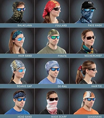 Kim Johanson Multifunktionstuch | Maske | Schlauchtuch | Sturmmaske | Bandana | Totenkopf Halstuch | Skelettmaske für Motorrad Fahrrad Ski Paintball Wandern Skull Waschbar (3 Stück) - 7