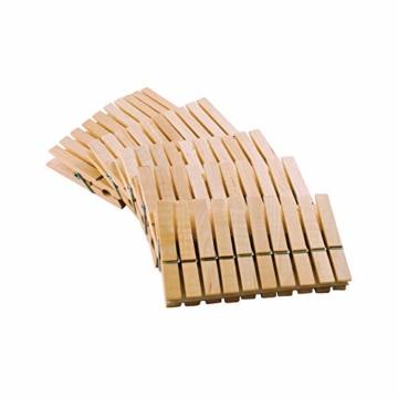 LANDHÜTTE 100 x Wäscheklammern aus Holz - 7,4 cm x 1 cm - umweltfreundliche Klammern aus Birkenholz - 2