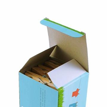 LANDHÜTTE 100 x Wäscheklammern aus Holz - 7,4 cm x 1 cm - umweltfreundliche Klammern aus Birkenholz - 5