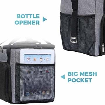 Lifewit Kühltasche Einkaufstasche Picknicktasche Lunchtasche Mittagessen Tasche Thermotasche Kühltasche Isoliertasche für Lebensmitteltransport,schwarz,mit Kühlakkus und Flaschenöffner - 5