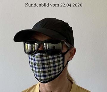 Mundschutz Maske mit Motiv – 4er Baumwoll Masken bunt, lustig, komisch – für Männer, Frauen & Kinder - 6