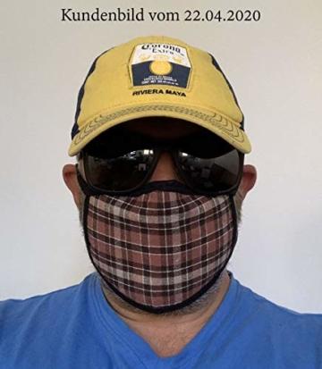 Mundschutz Maske mit Motiv – 4er Baumwoll Masken bunt, lustig, komisch – für Männer, Frauen & Kinder - 7