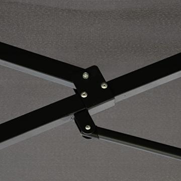 Nexos GM35136 Doppelsonnenschirm Sonnenschirm XXL mit Kurbel Anthrazit 4,50m Polyester Stahl Terrasse Garten Pool Oval-Schirm Marktschirm - 6