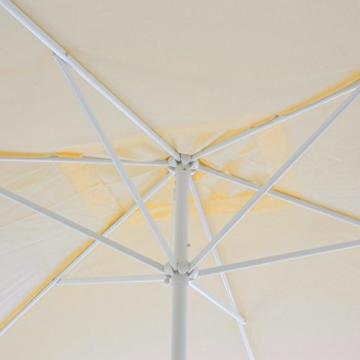 Nexos Sonnenschirm, beige, 200x300 cm quadratisch, Gestell Stahl, Bespannung Polyester, 6 kg - 2