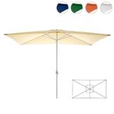 Nexos Sonnenschirm, beige, 200x300 cm quadratisch, Gestell Stahl, Bespannung Polyester, 6 kg - 1