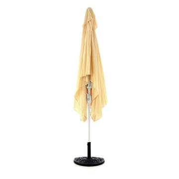 Nexos Sonnenschirm, beige, 200x300 cm quadratisch, Gestell Stahl, Bespannung Polyester, 6 kg - 3