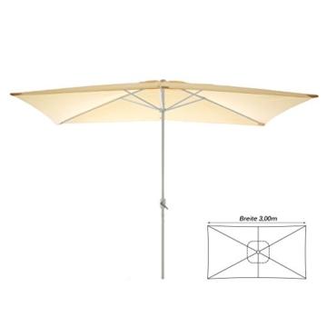 Nexos Sonnenschirm, beige, 200x300 cm quadratisch, Gestell Stahl, Bespannung Polyester, 6 kg - 4