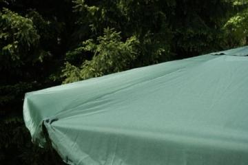 Nexos Sonnenschirm Mittelstabschirm Ø 3,80m grün 8 Rippen Kurbel Stand-Sonnenschirm Sonnenschutz Garten Camping Terrasse Gestänge aus Aluminium Stahl - 2