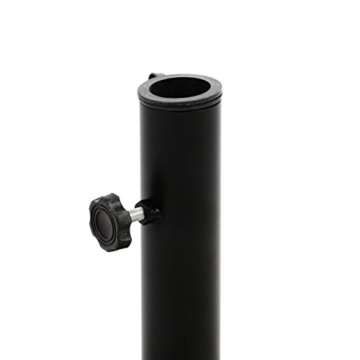 Nexos Sonnenschirmständer Granit grau 40cm rund Schirmständer Edelstahlrohr mit Feststellschrauben und 3 Standfüße Kunststoffringe 10 kg - 3
