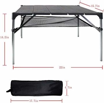 NiceDD Klappbarer Klapp-Camping-Tisch Leichter tragbarer Tisch Kompakter Aluminium-Klapptisch für den Außenbereich - 2