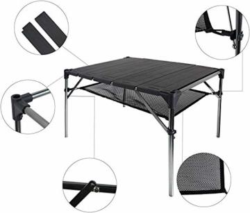 NiceDD Klappbarer Klapp-Camping-Tisch Leichter tragbarer Tisch Kompakter Aluminium-Klapptisch für den Außenbereich - 3
