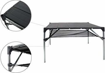 NiceDD Klappbarer Klapp-Camping-Tisch Leichter tragbarer Tisch Kompakter Aluminium-Klapptisch für den Außenbereich - 4