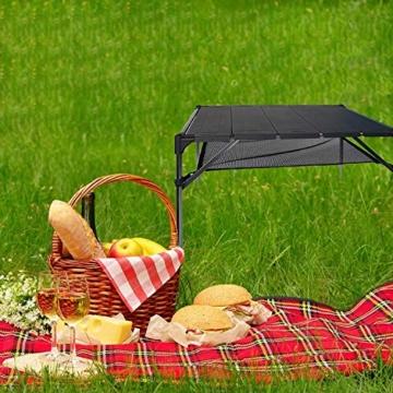 NiceDD Klappbarer Klapp-Camping-Tisch Leichter tragbarer Tisch Kompakter Aluminium-Klapptisch für den Außenbereich - 5