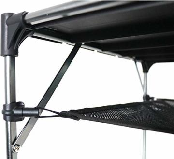 NiceDD Klappbarer Klapp-Camping-Tisch Leichter tragbarer Tisch Kompakter Aluminium-Klapptisch für den Außenbereich - 6