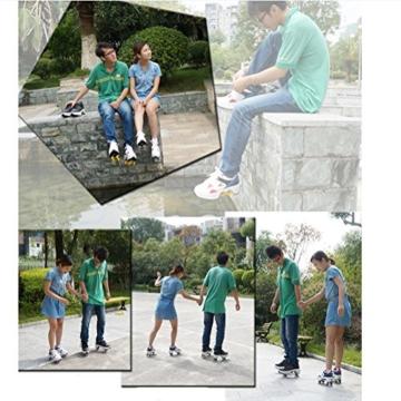 NNZZY Multifunktionale Deformation Schuhe Quad Skate Rollschuhe Skating Outdoor Sportschuhe für Erwachsene, Black, 39 - 4