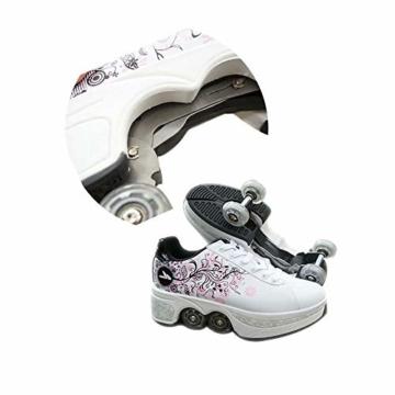 NOBRAND Multifunktionale verformte Schuhe für Kinder, Studenten, Erwachsene, Rollschuhe, Rollschuhe, Outdoor, Sport, Skaten, Reisen, beste Wahl, weiß, 39 - 4