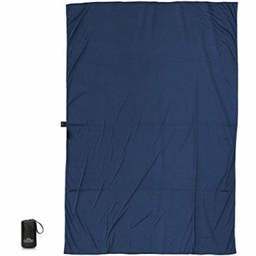 Outdoro Isopeak Reisedecke - 210x155cm - Ultraleichte Decke für Reisen - Geringes Packmaß - weich und atmungsaktiv - 2