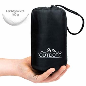 Outdoro Isopeak Reisedecke - 210x155cm - Ultraleichte Decke für Reisen - Geringes Packmaß - weich und atmungsaktiv - 6