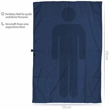 Outdoro Isopeak Reisedecke - 210x155cm - Ultraleichte Decke für Reisen - Geringes Packmaß - weich und atmungsaktiv - 7