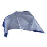 Outsunny 2 in 1 Sonnenschirm Strandschirm Windschutz Strandmuschel Blau Φ210xH222cm - 1