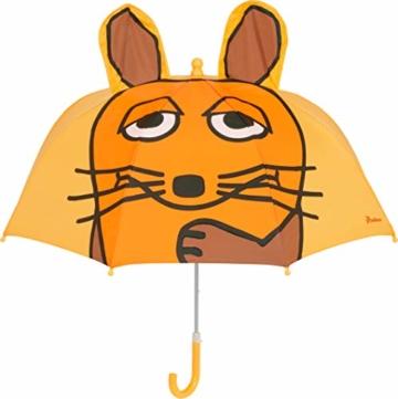 Playshoes DIE MAUS Mädchen Kinder Maus Regenschirm, Gelb (Gelb 12), One Size - 1