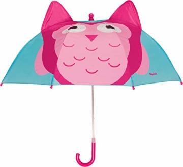 Playshoes Mädchen Printed Umbrella Regenschirm, Türkis (Türkis 15), One size (Herstellergröße: original) - 1