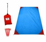 polaar Picknickdecke und Stranddecke, Wasserdicht, Ultraleicht, 4 Personen, mit Heringen - Ideal für den Park, Reise und Camping - 1
