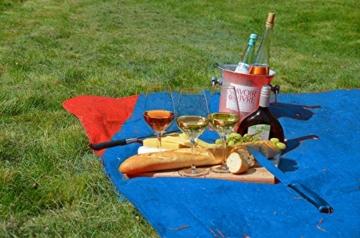 polaar Picknickdecke und Stranddecke, Wasserdicht, Ultraleicht, 4 Personen, mit Heringen - Ideal für den Park, Reise und Camping - 4