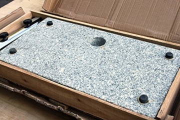 ProKIRA® Sonnen Schirmständer / 25 kg/bis Ø300cm / Granit Balkonschirmständer/eckig (Derzeit leider kein Versand nach Österreich!) - 3