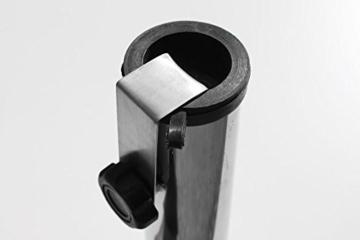 ProKIRA® Sonnen Schirmständer / 25 kg/bis Ø300cm / Granit Balkonschirmständer/eckig (Derzeit leider kein Versand nach Österreich!) - 4