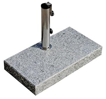 ProKIRA® Sonnen Schirmständer / 25 kg/bis Ø300cm / Granit Balkonschirmständer/eckig (Derzeit leider kein Versand nach Österreich!) - 1